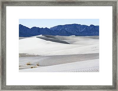 Patterns On White Sands - New Mexico Framed Print