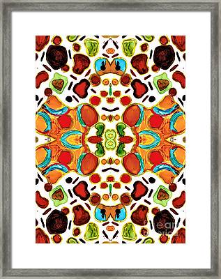 Patterns Within Patterns Framed Print