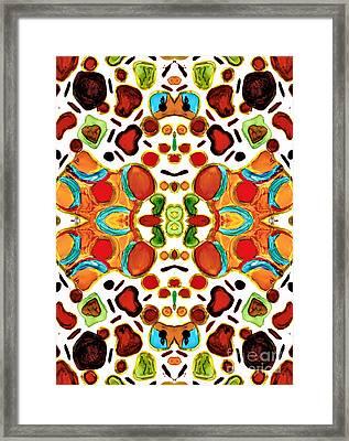 Patterns Within Patterns Framed Print by Jolanta Anna Karolska