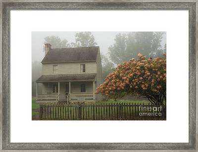 Patterson House And Fog Framed Print