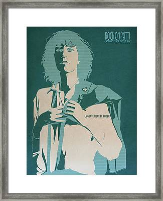Patti Smith Framed Print by Nelson Garcia