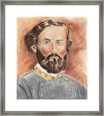 Patton In The Civil War Framed Print by Dennis Larson