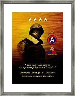Patton Tribute Framed Print by John Wills