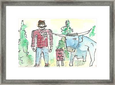Paul And Babe Framed Print by Matt Gaudian