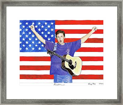 Freedom Framed Print by Lacey Fox