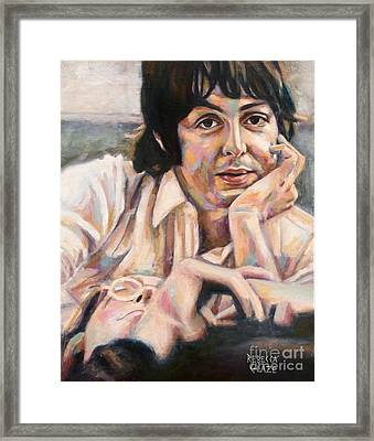 Paul And John Framed Print by Rebecca Glaze