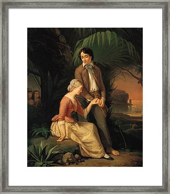 Paul And Virginie Framed Print by French School