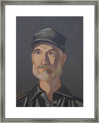Paul Bright Portrait Framed Print by John Holdway
