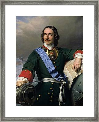 Paul Delaroche 1797-1856 - Peter I The Great Of Russia, 1838 Framed Print