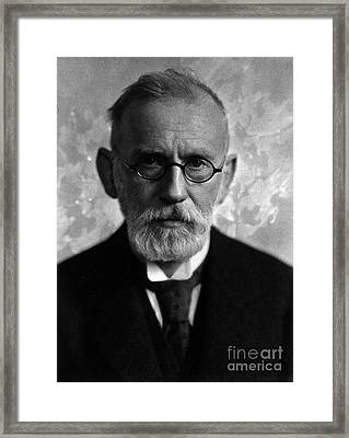 Paul Ehrlich, German Immunologist Framed Print by Science Source