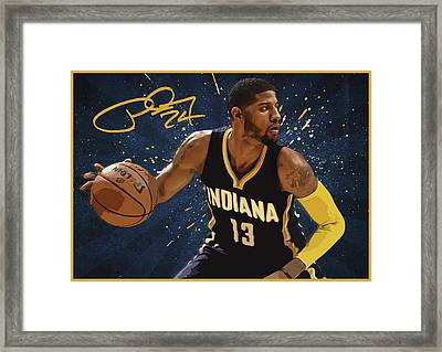 Paul George Framed Print by Semih Yurdabak