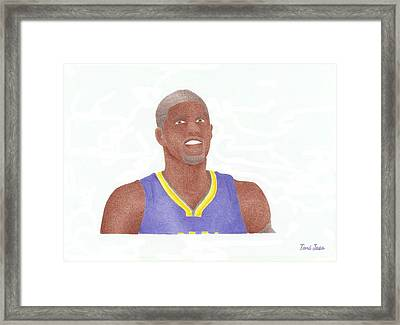 Paul George Framed Print by Toni Jaso