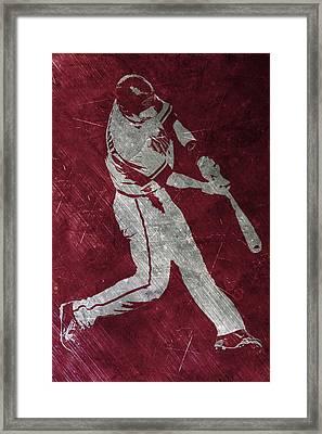 Paul Goldschmidt Arizona Diamondbacks Art Framed Print by Joe Hamilton