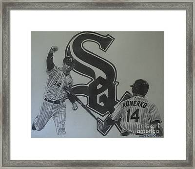 Paul Konerko Collage Framed Print