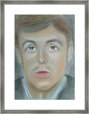 Paul Mc Cartney Framed Print