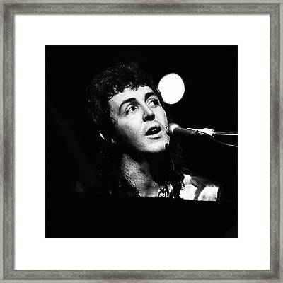 Framed Print featuring the photograph Paul Mccartney 1973 Square by Chris Walter