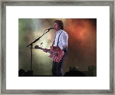 Paul Mccartney At Citi Field Framed Print