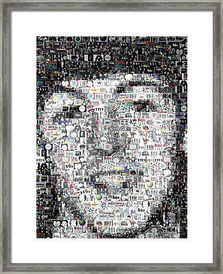 Paul Mccartney Beatles Mosaic Framed Print by Paul Van Scott