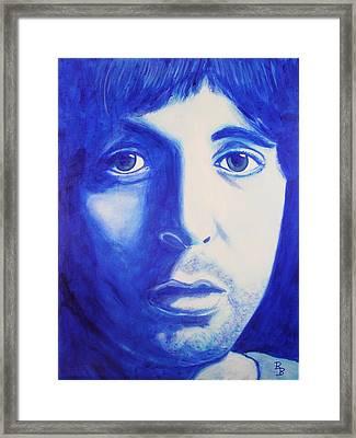 Framed Print featuring the painting Paul Mccartney Beatles White Album by Bob Baker