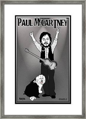 Paul Mccartney Framed Print by John Goldacker