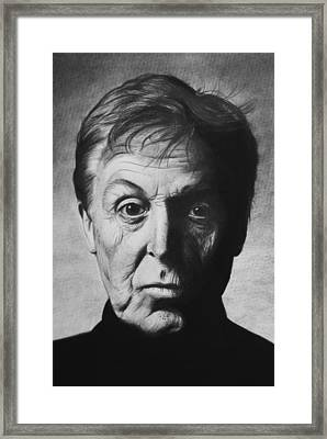 Paul Mccartney Framed Print by Steve Hunter