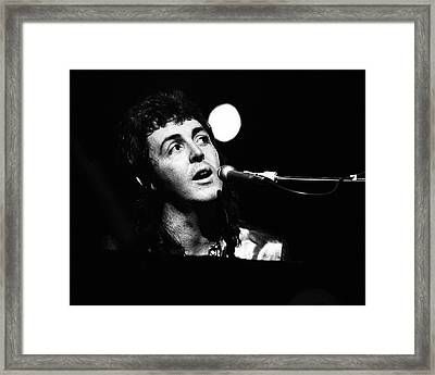 Framed Print featuring the photograph Paul Mccartney Wings 1973 by Chris Walter
