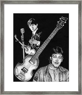 Paul Mccartney's Hofner Bass Framed Print
