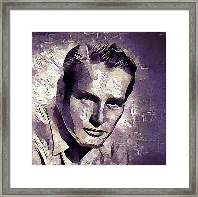 Paul Newman Hollywood Actor Framed Print by Esoterica Art Agency