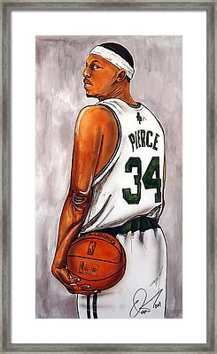 Paul Pierce - The Truth Framed Print by Dave Olsen