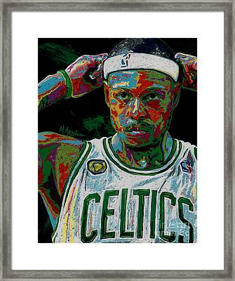 Paul Pierce Framed Print by Maria Arango