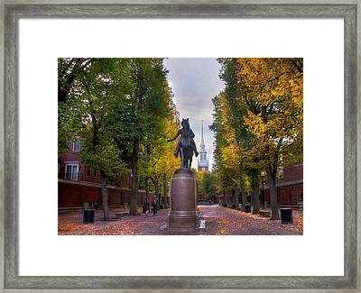 Paul Revere And Old North Church - Boston Framed Print