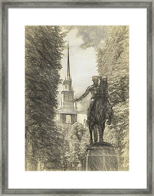 Paul Revere Rides Sketch Framed Print