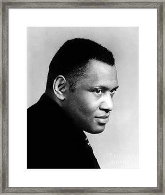 Framed Print featuring the photograph Paul Robeson by Granger