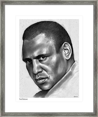 Paul Robeson Framed Print by Greg Joens