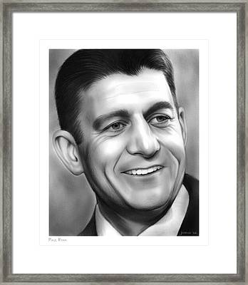 Paul Ryan Framed Print by Greg Joens