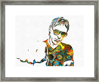 Paul Weller Paint Poster Framed Print by Dan Sproul