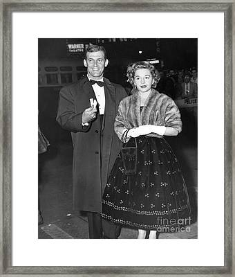 Paul Winchell And His Wife Arrive For The Show. 1966 Framed Print