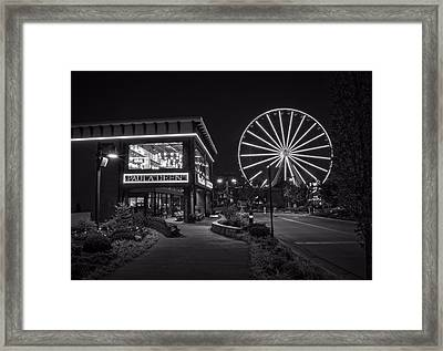 Paula Deen's At Night In Black And White Framed Print