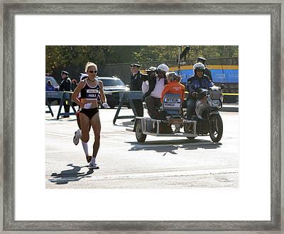 Paula Radcliffe 2007 Ing Nyc Marathon 2 Framed Print