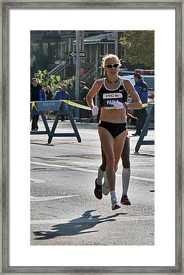 Paula Radcliffe Nyc Marathon Framed Print