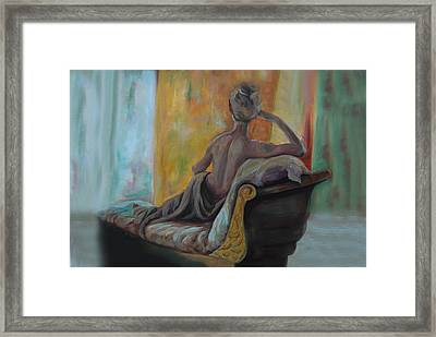 Framed Print featuring the painting Pauline by Nancy Bradley