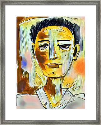 Framed Print featuring the digital art Pauls Portrait by Elaine Lanoue