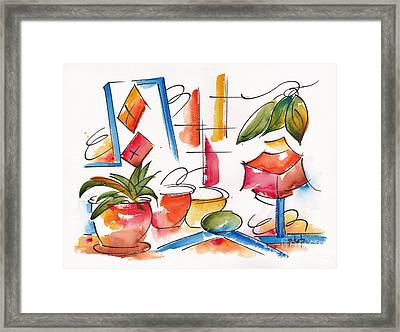 Pausegarden Props Abstract #10 Framed Print