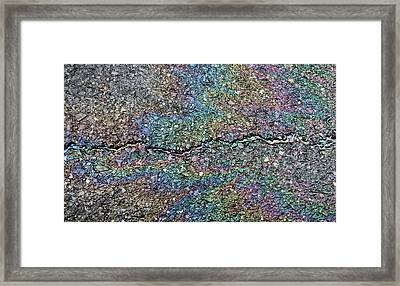 Pavement Rainbow II Framed Print
