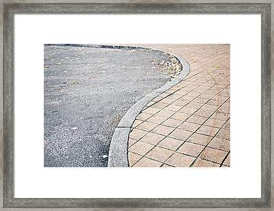 Pavement Framed Print by Tom Gowanlock