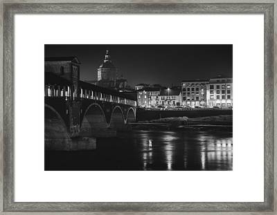 Pavia At Night Framed Print by Cesare Bargiggia