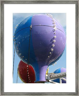 Pavilion Balloons Framed Print by Kelly Mezzapelle