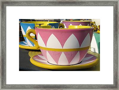 Pavilion Tea Cups Framed Print by Kelly Mezzapelle