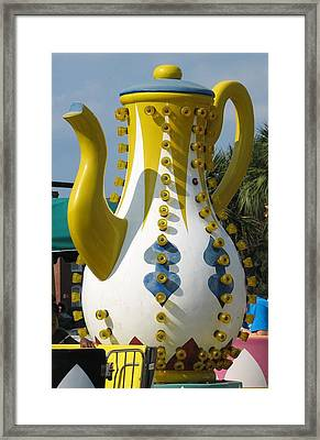 Pavilion Teapot Framed Print by Kelly Mezzapelle