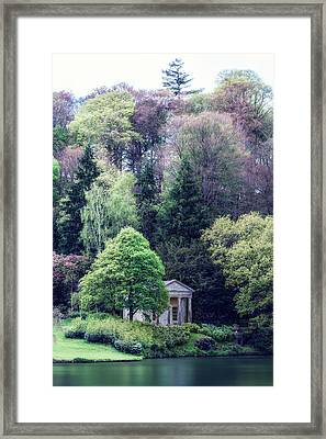 Pavillion At The Lake Framed Print